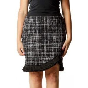 WHBM White House Black Market tweed skirt pleated